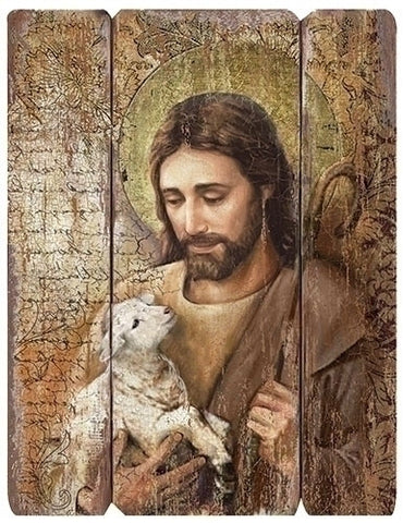 Jesus Good Shepherd Wall Plaque