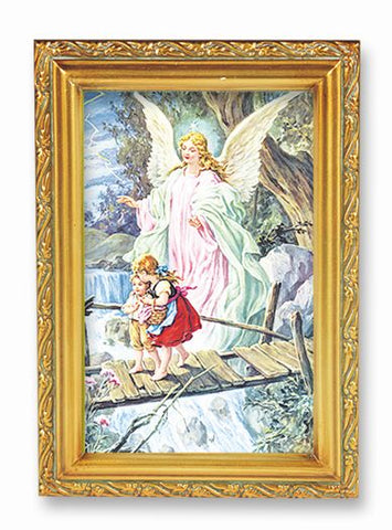 GUARDIAN ANGEL ANTIQUE GOLD FRAME