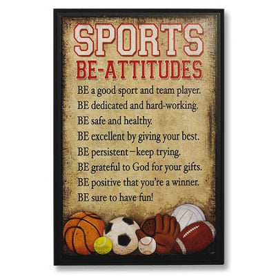 SPORTS BE-ATTITUDES WALL PLAQUE