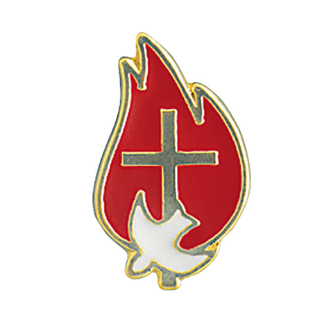 Red Flame Confirmation Lapel Pin