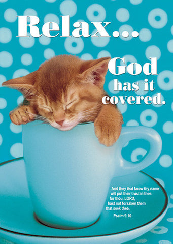Large Poster - Relax God Has It