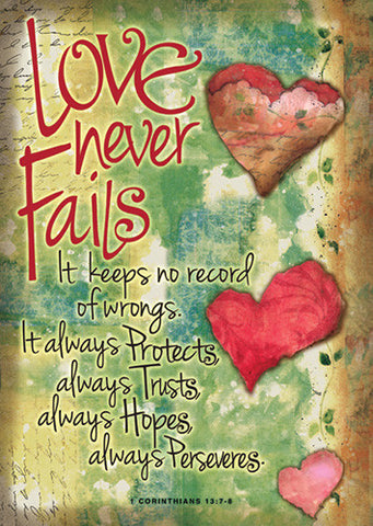 Large Poster - Love Never Fails