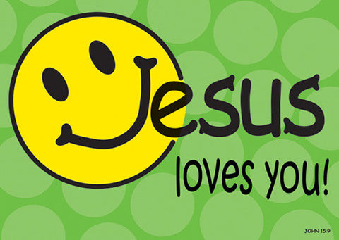 Large Poster Jesus Loves You