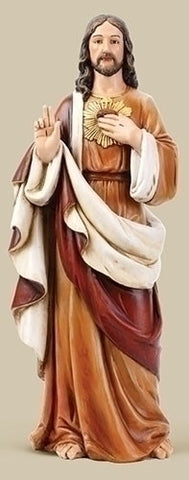 "24"" H Sacred Heart Of Jesus Statue"
