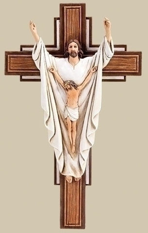 He Is Risen Crucifix  10.25""