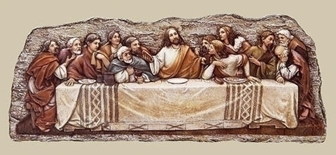 Last Supper Wall Plaque  12.25""