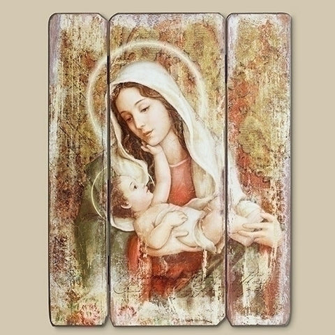 Mary  Child's Touch Wall Plaque