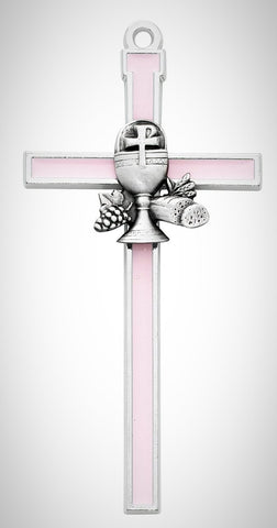"5"" Pink Chalice Communion Cross"
