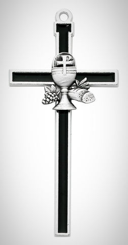 "5"" Black Chalice Communion Cross"