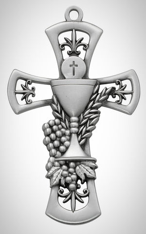 "6"" Pewter Chalice Cross"