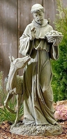 St Francis with Horse Statue