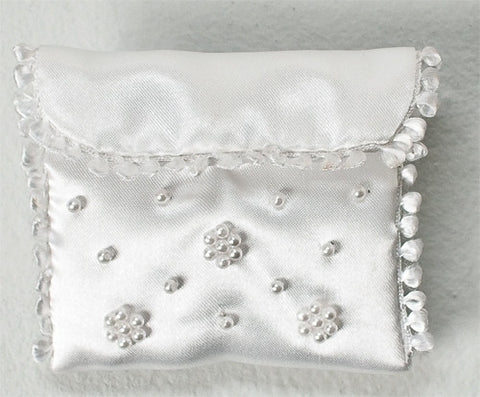 Beaded Communion Rosary Pouch