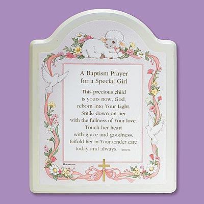Baptism Prayer - Plaque