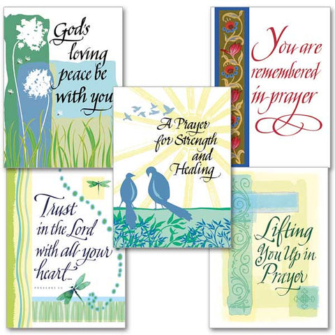 The Prayers Collection  Assorted Get Well Cards 10pk