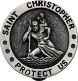 St. Christopher Car Visor Clip