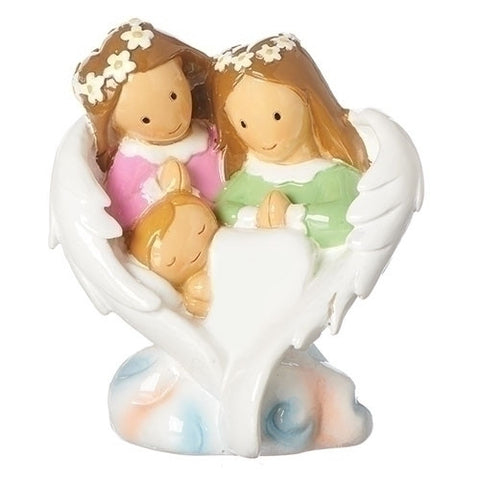 Guardian Angel Family Statue
