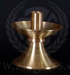 "Altar Candlesticks ONLY - Satin Bronze - 4-1/4"" - Pair"
