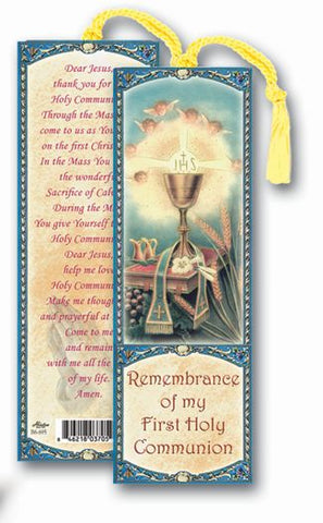 REMEMBRANCE OF MY FIRST HOLY COMMUNION BOOKMARK