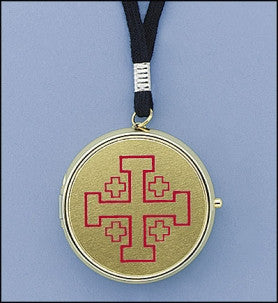 Brass Plated Pyx With Cord