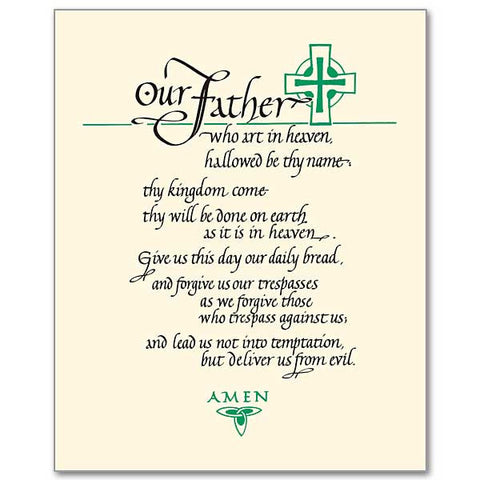 image relating to The Lord's Prayer Printable referred to as The Lords Prayer Print