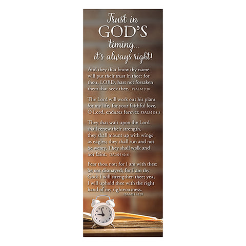 Trust In God's Timing.. (Bible Basic Bookmark)