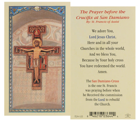 San Damiano Crucifix Holy Card
