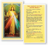 THE CHAPLET OF THE DIVINE MERCY LAMINATED HOLY CARD