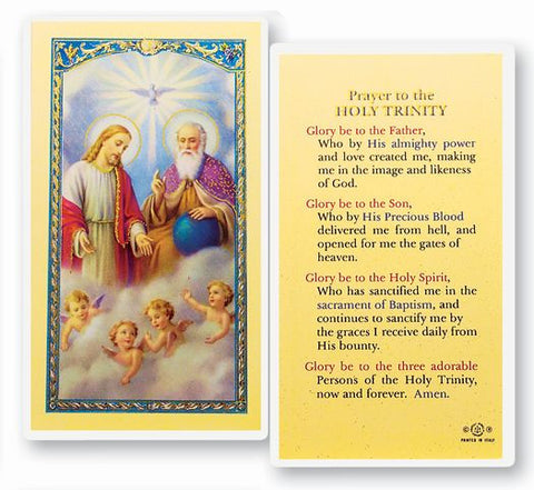 PRAYER TO HOLY TRINITY HOLYCARD