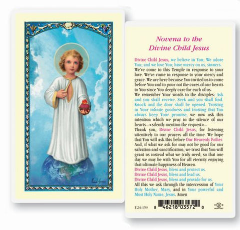 THE DIVINE CHILD JESUS HOLY CARD