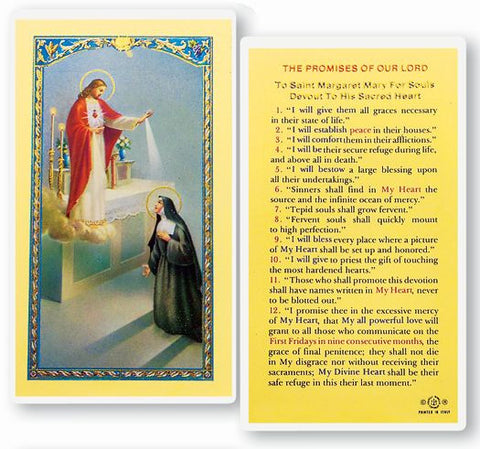 The Promises Of Our Lord Holy Card