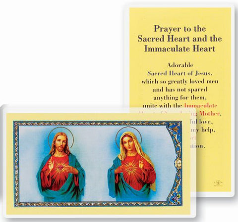 The Sacred Hearts Holy Card