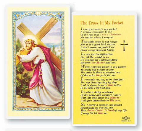 THE CROSS IN MY POCKET HOLY CARD