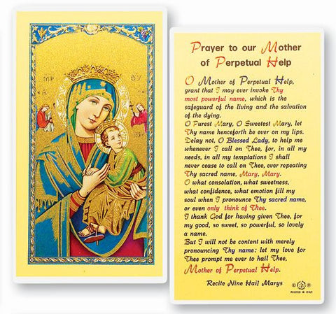 Our Lady Of Perpetual Help Holy Card