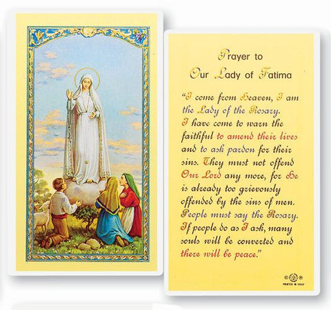 OUR LADY OF FATIMA - NOVENA HOLY CARD