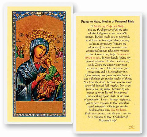 MOTHER OF PERPETUAL HELP HOLY CARD