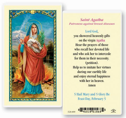SAINT AGATHA HOLY CARD