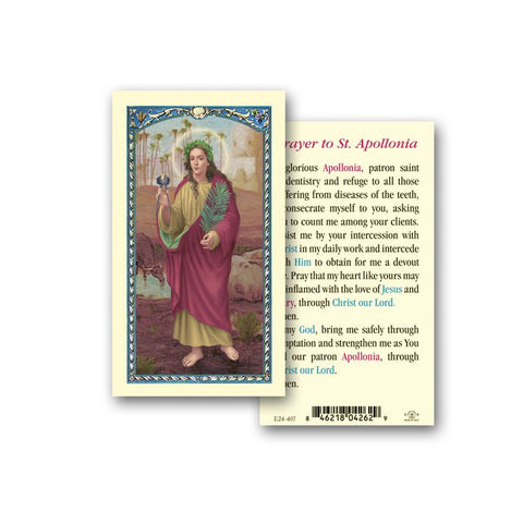 SAINT APOLLONIA HOLY CARD