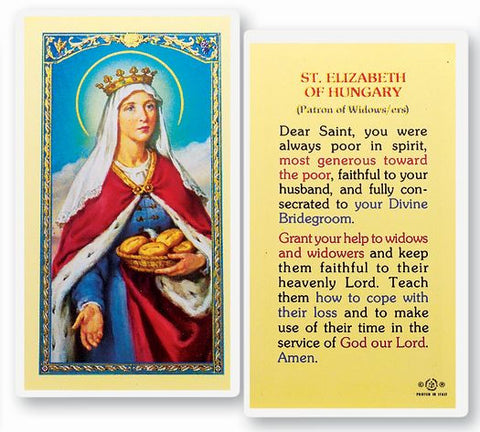 Saint Elizabeth Of Hungary Holy Card