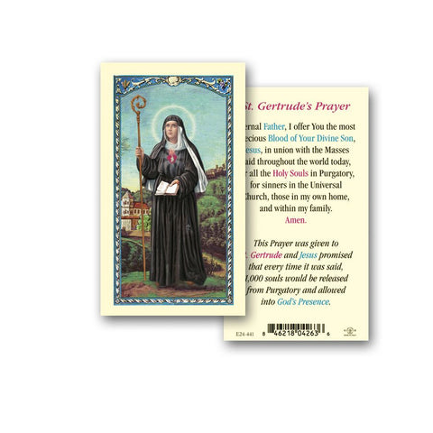 SAINT GERTRUDE HOLY CARD