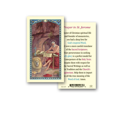 SAINT JEROME HOLY CARD