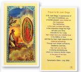 Saint Juan Diego Holy Card