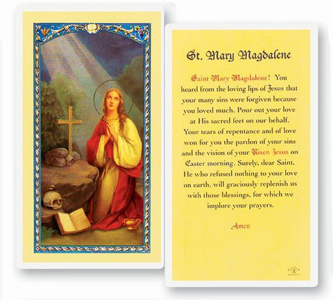 Prayer To Mary Magdalene Holy Card