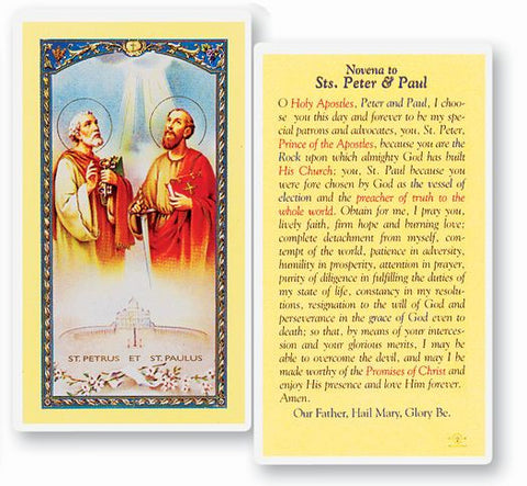 Novena To Saints Peter And Paul Holy Card