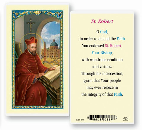 Saint Robert Laminated Holy Card