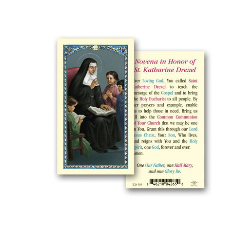 SAINT KATHARINE DREXEL HOLY CARD