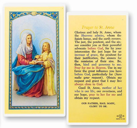 SAINT ANNE HOLY CARD