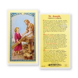 St. Joseph, Patron of Workers Holy Card