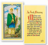 Saint Patrick - An Irish Blessing Holy Card
