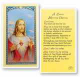 A LENTEN MORNING OFFERING LAMINATED HOLY CARD