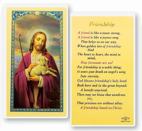 FRIENDSHIP LAMINATED HOLY CARD